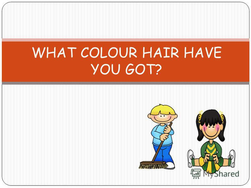 WHAT COLOUR HAIR HAVE YOU GOT?