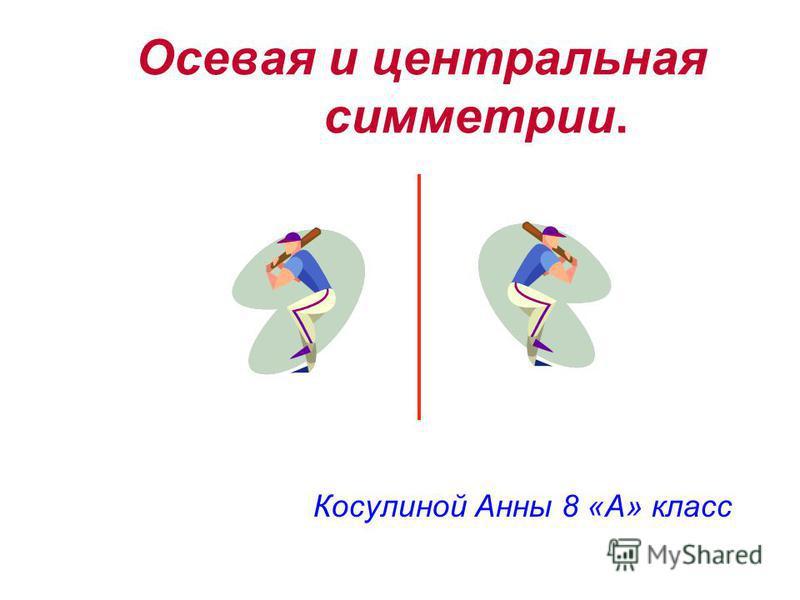 Косулиной Анны 8 «А» класс Осевая и центральная симметрии.