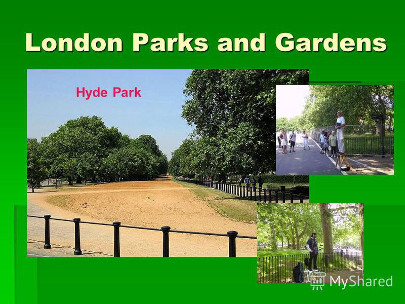London Parks and Gardens Hyde Park