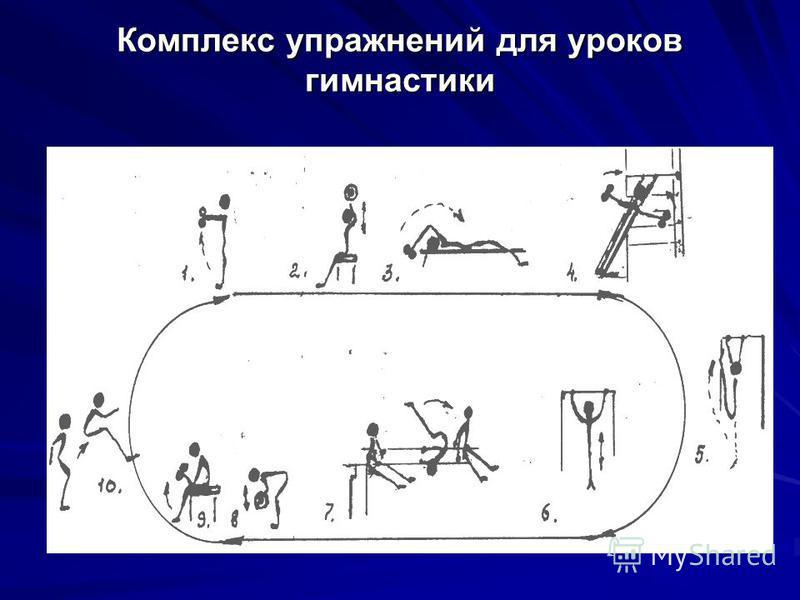 Комплекс упражнений для уроков гимнастики