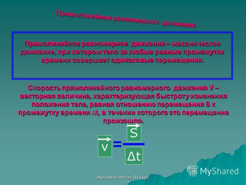 Анисимов Антон III курс