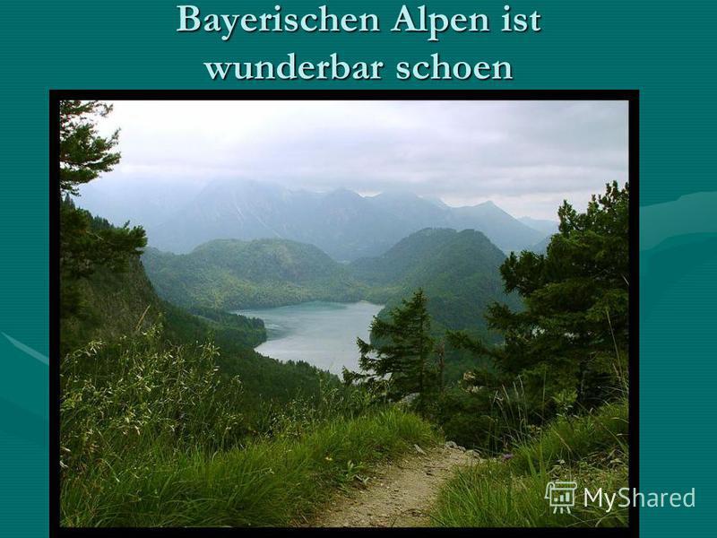 Bayerischen Alpen ist wunderbar schoen