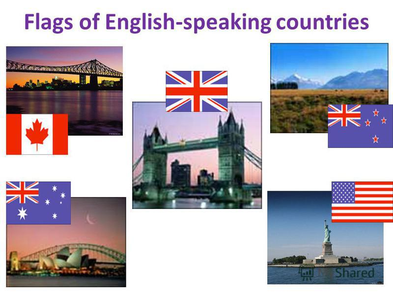 Flags of English-speaking countries