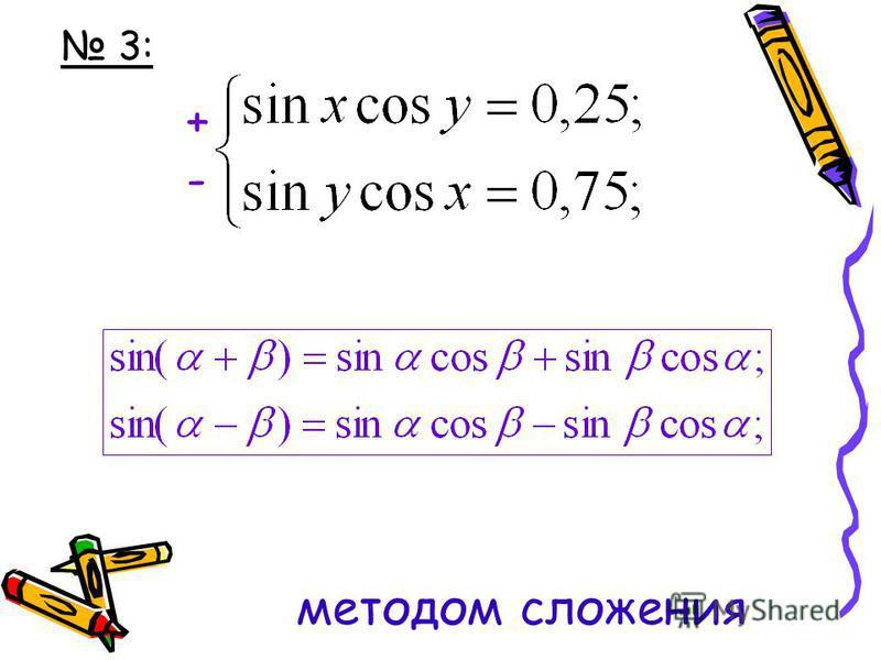 3: методом сложения +-+-
