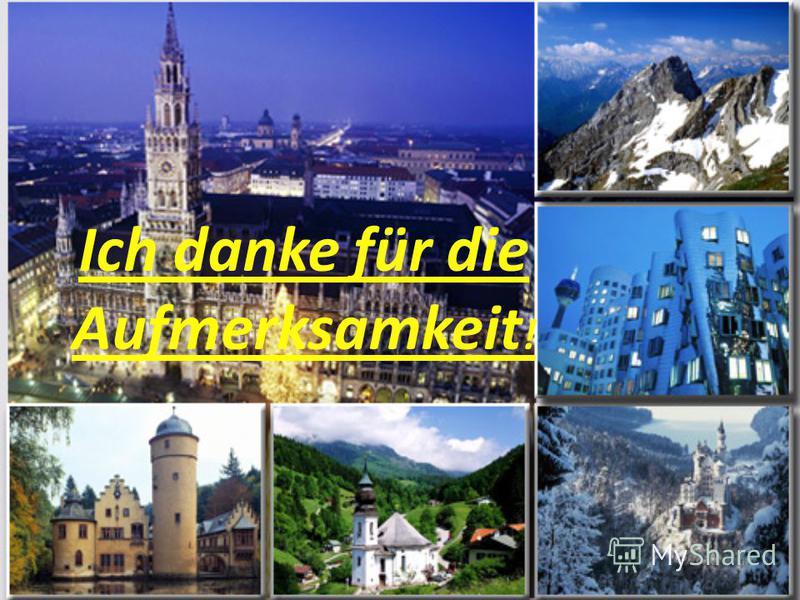 ... Und zum Schluss Deutschland heute das Land mächtig, schön, zusammennehmend die Kraft. Vom Blühen ist sie dem Volk fleißig, ergeben, einfach, ehrlich vor allem verpflichtet. Dem Volk, in das, ungeachtet der Mannigfaltigkeit, die nationale Einheit