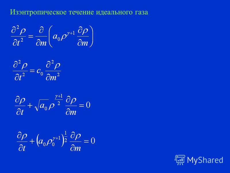 Уравнение теплопередачи Движение сжимаемой жидкости