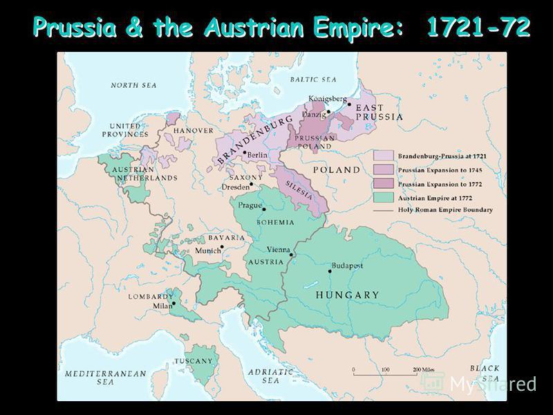 Prussia & the Austrian Empire: 1721-72