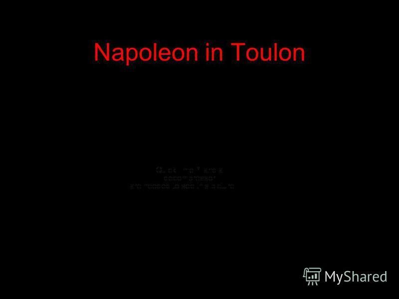 Napoleon in Toulon