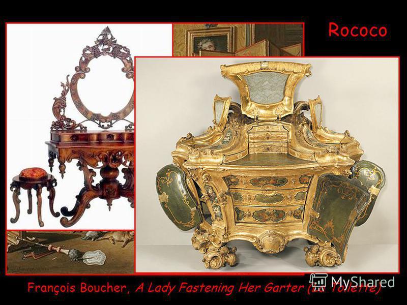 François Boucher, A Lady Fastening Her Garter (La Toilette) Rococo