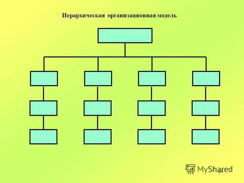 24 Иерархическая организационная модель