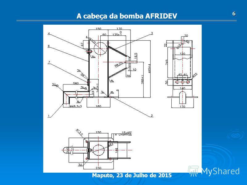 Maputo, 23 de Julho de 2015 6 A cabeça da bomba AFRIDEV