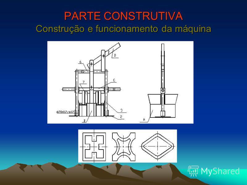 PARTE CONSTRUTIVA Construção e funcionamento da máquina