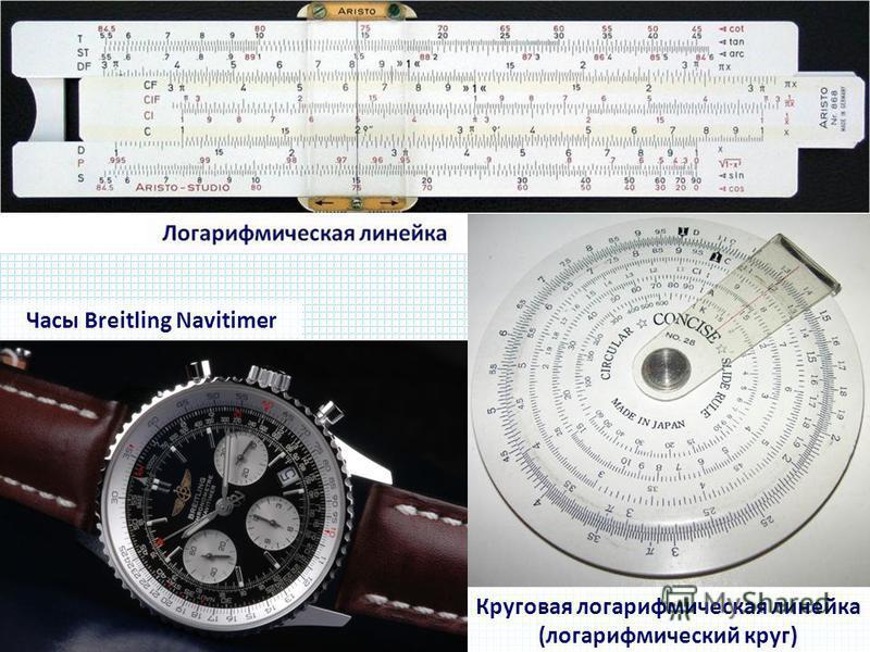 Круговая логарифмическая линейка (логарифмический круг) Часы Breitling Navitimer