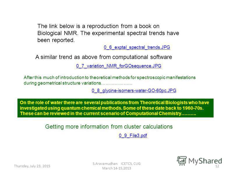 The link below is a reproduction from a book on Biological NMR. The experimental spectral trends have been reported. 0_6_exptal_spectral_trends.JPG 0_7_variation_NMR_forGOsequence.JPG A similar trend as above from computational software 0_8_glycine-i