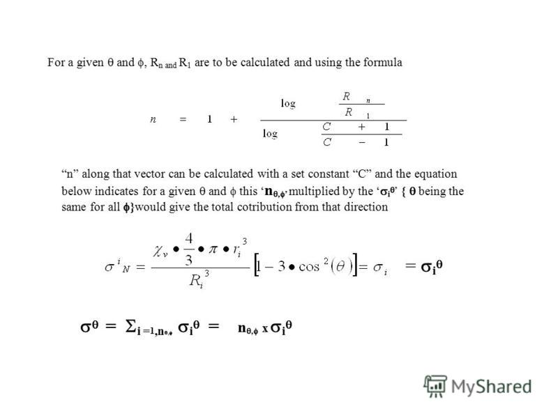 Description of a Procedure for Evaluating the Induced Field Contributions from the Bulk of the Medium Radia l Vector with polar coordinates: r, θ, φ. (Details to find in 4 th Alpine Conference on SSNMR presentation Sheets 6-8) http://nehuacin.tripod.