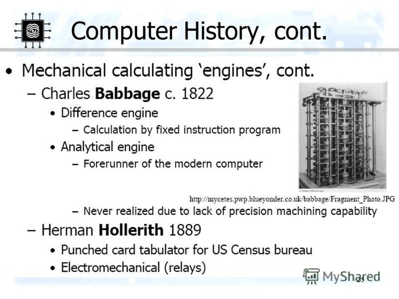 25 Computer History, cont.