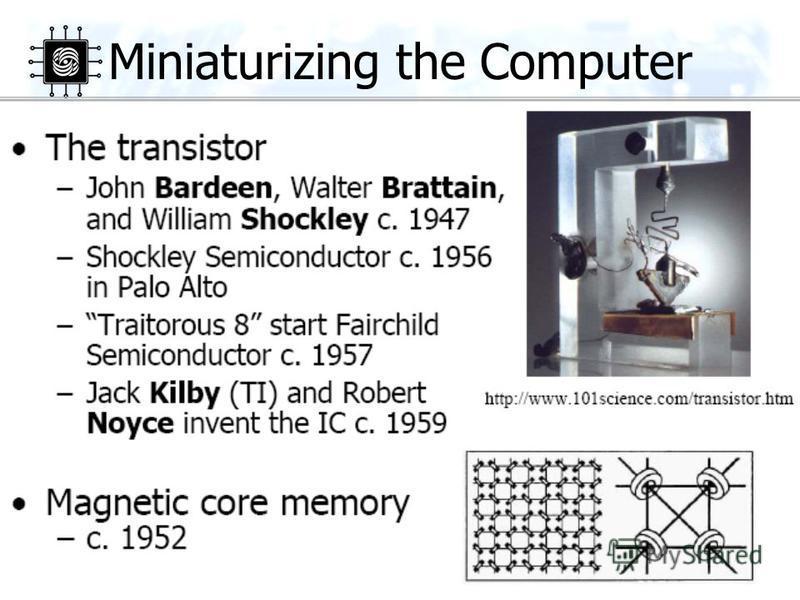 27 Miniaturizing the Computer