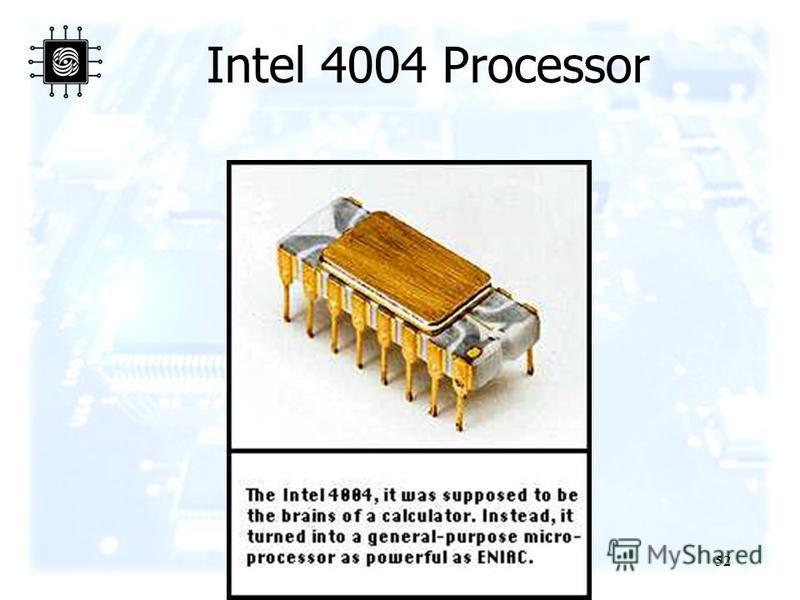 52 Intel 4004 Processor