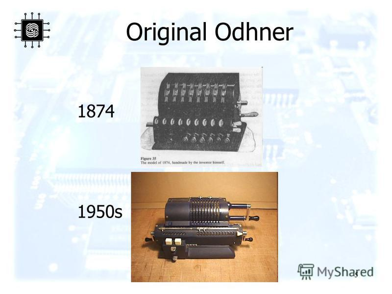 5 Original Odhner 1874 1950s