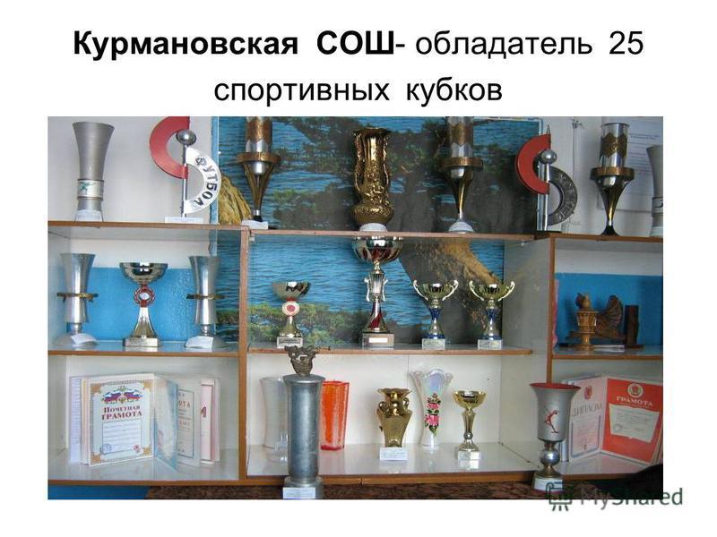 Курмановская СОШ- обладатель 25 спортивных кубков