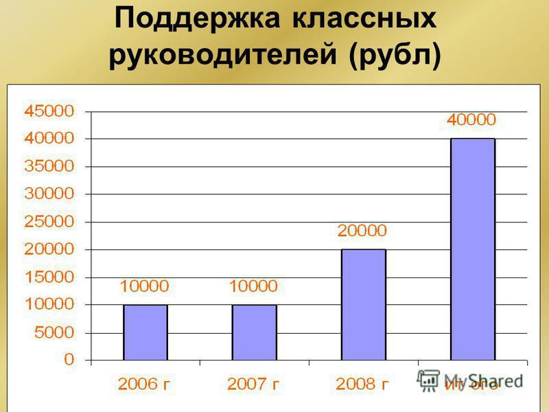 Поддержка классных руководителей (рубльь)