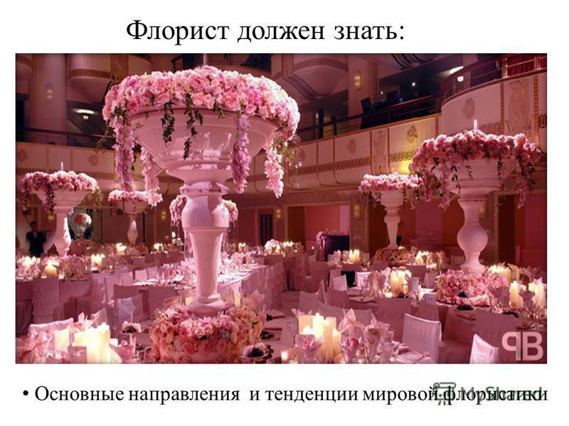Флорист должен знать: Основные направления и тенденции мировой флористики