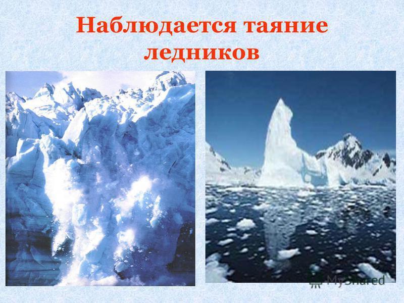 Наблюдается таяние ледников