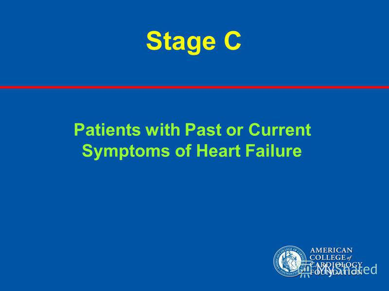 Stage C Patients with Past or Current Symptoms of Heart Failure