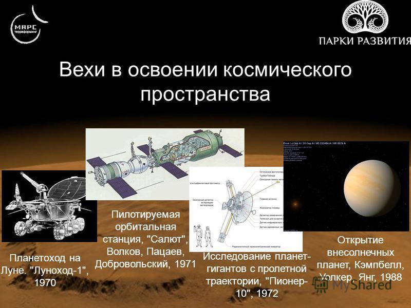 Вехи в освоении космического пространства Планетоход на Луне.