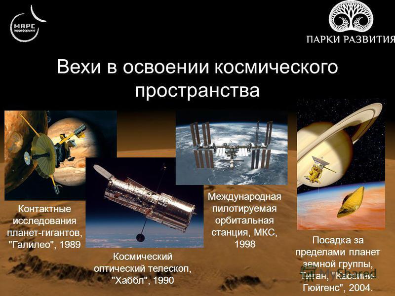 Вехи в освоении космического пространства Контактные исследования планет-гигантов,