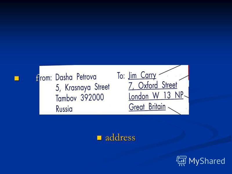 f f address address