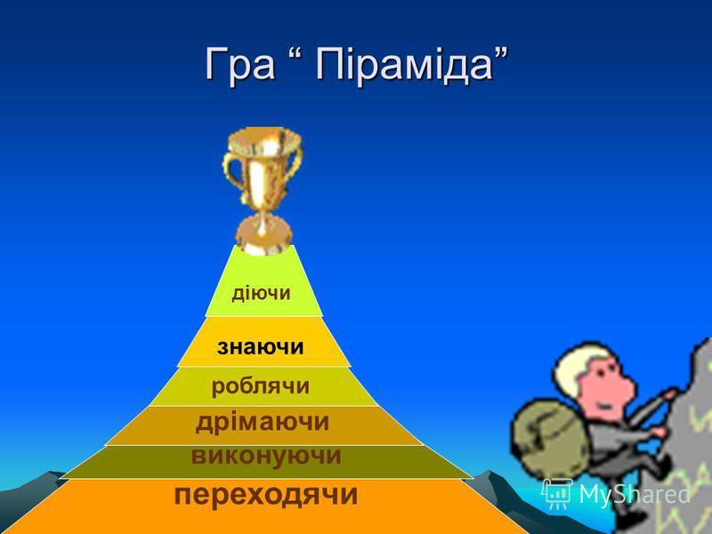 Гра Піраміда переходячи виконуючи дрімаючи роблячи знаючи діючи