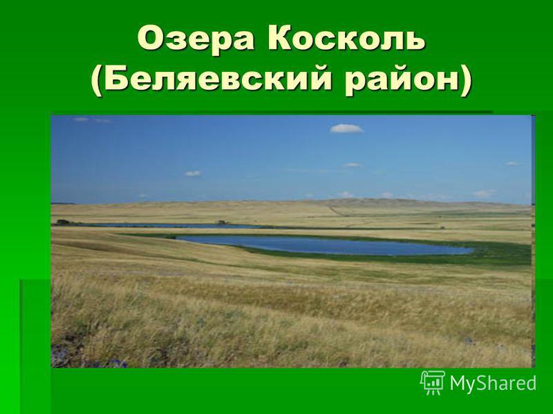 Озера Косколь (Беляевский район)