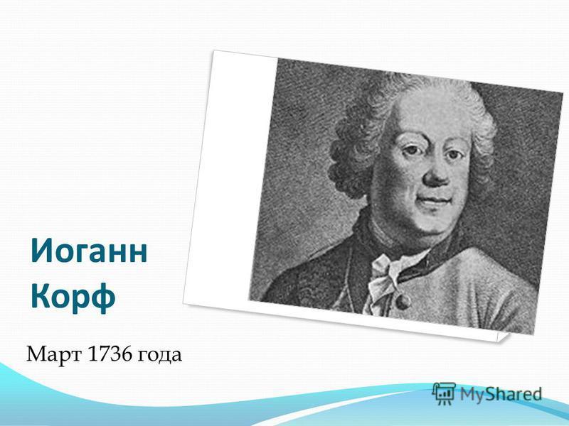Иоганн Корф Март 1736 года