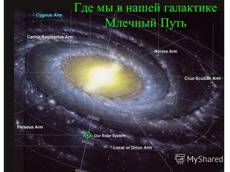 Где мы в нашей галактике Млечный Путь