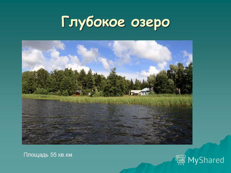 Глубокое озеро Площадь 55 кв.км