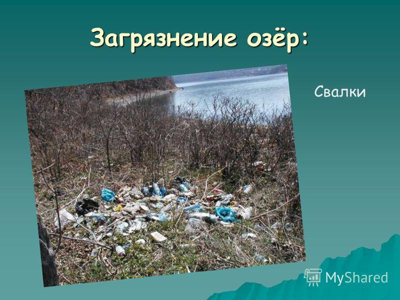 Загрязнение озёр: Свалки
