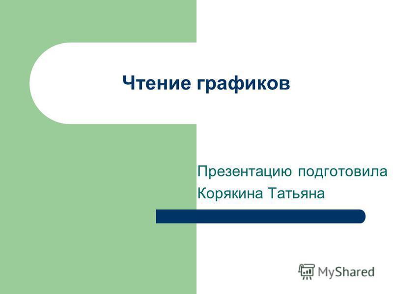 Чтение графиков Презентацию подготовила Корякина Татьяна