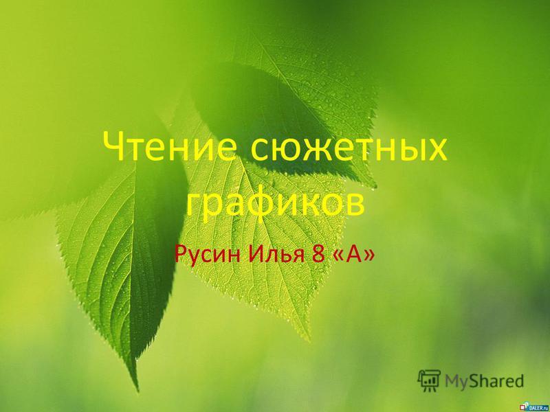 Чтение сюжетных графиков Русин Илья 8 «А»