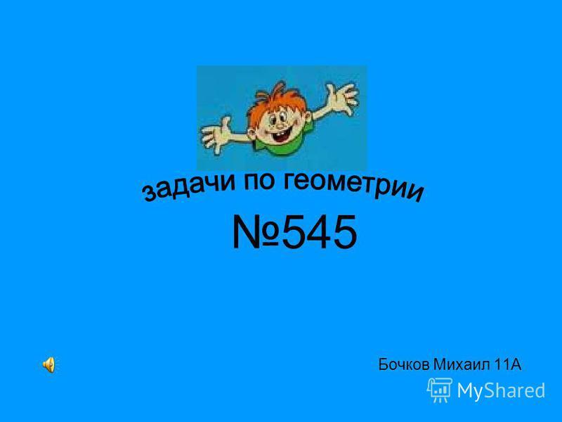 Бочков Михаил 11А 545