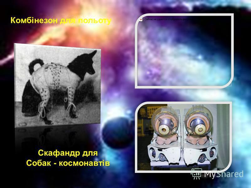Комбінезон для польоту Скафандр для Собак - космонавтів