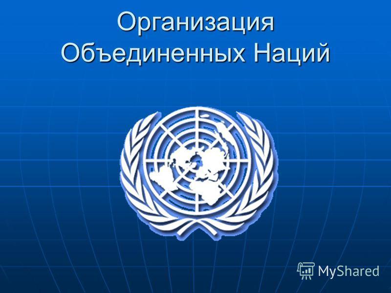 Организация объединенных наций доклад 7752
