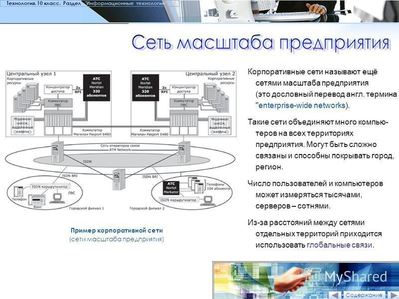 Пример корпоративной сети (сети масштаба предприятия) Корпоративные сети называют ещё сетями масштаба предприятия (это дословный перевод англ. термина