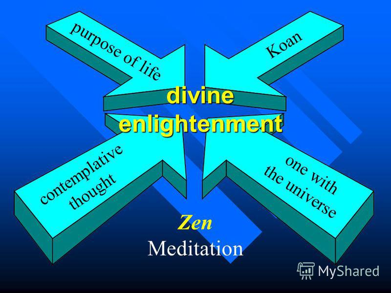 divineenlightenment contemplative thought Koan one with the universe purpose of life Zen Meditation