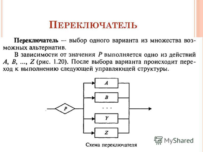 П ЕРЕКЛЮЧАТЕЛЬ