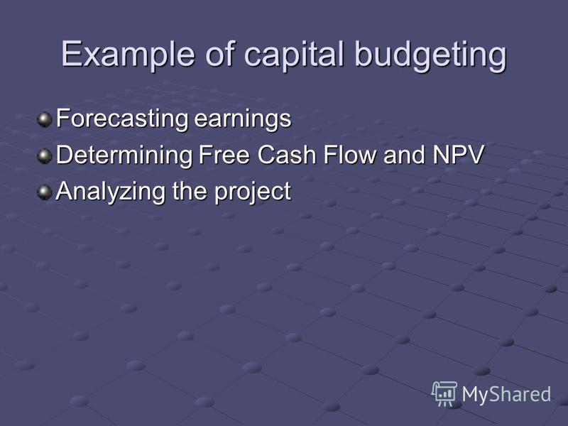 thesis on capital budgeting