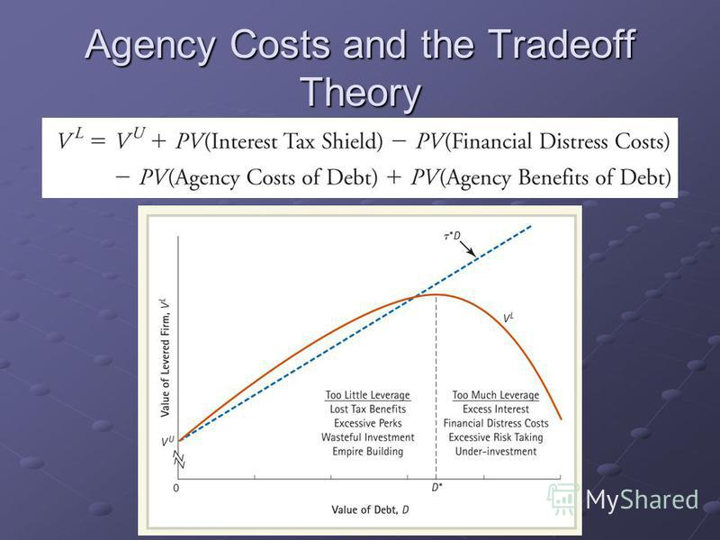Agency Costs and the Tradeoff Theory