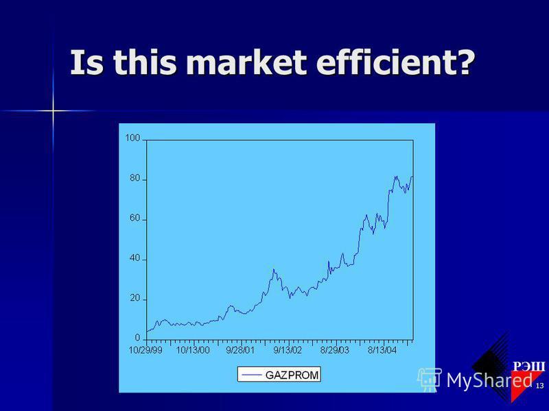 РЭШ EFM 2005/6 13 Is this market efficient?