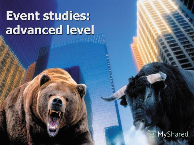 Event studies: advanced level