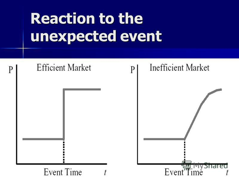 NES EFM 2005/6 4 Reaction to the unexpected event